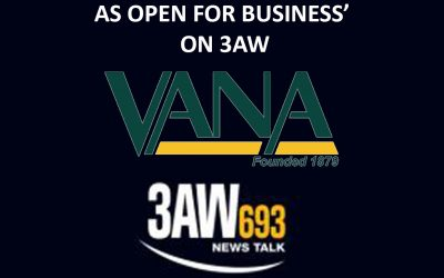 VANA PROMOTES 'NEWSAGENTS AS OPEN FOR BUSINESS' ON 3AW
