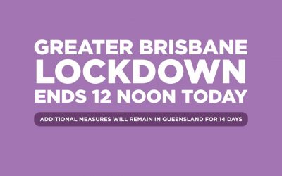 BREAKING NEWS: BRISBANE OUT OF LOCKDOWN