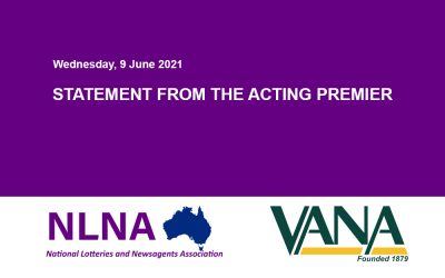 STATEMENT FROM THE ACTING PREMIER