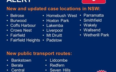 NSW PUBLIC HEALTH ALERT – VENUES AND PUBLIC TRANSPORT ROUTES OF CONCERN