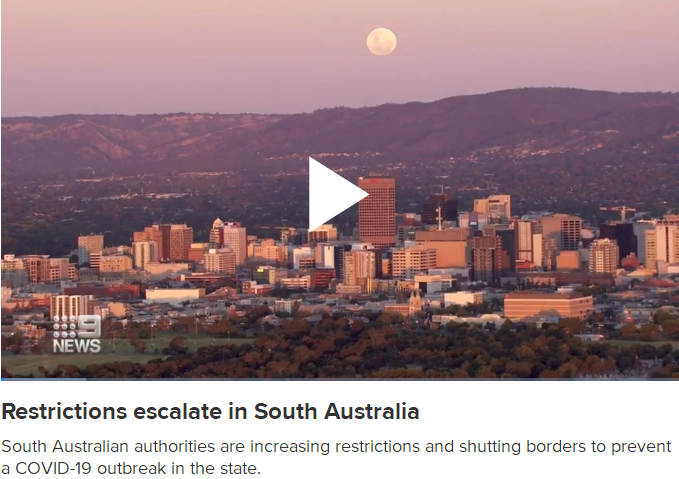 Restrictions escalate in South Australia