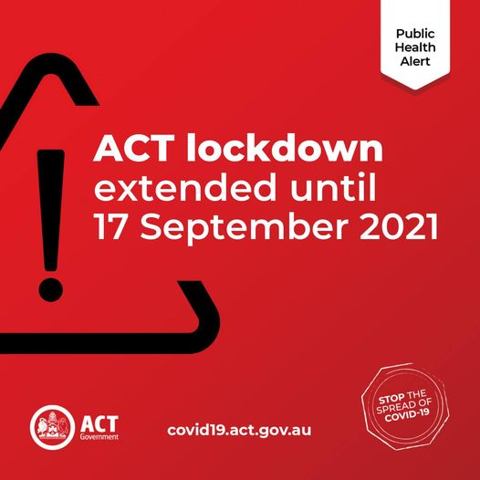 NLNA Covid-19 Update: ACT lockdown extended a further two weeks