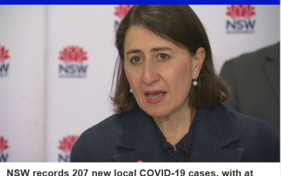 BREAKING: NSW records 207 new local COVID-19 cases
