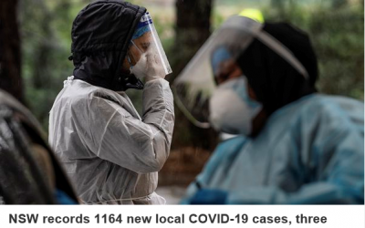 BREAKING: NSW records 1164 new COVID-19 cases