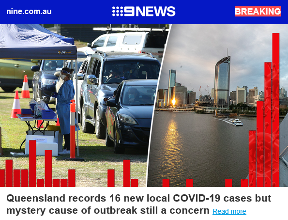 BREAKING: Queensland records 16 new local COVID-19 cases but mystery cause of outbreak still a concern