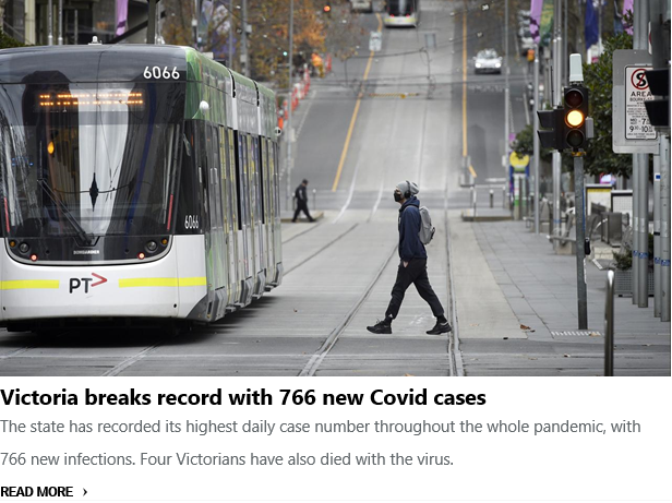 BREAKING: Victoria breaks record with 766 new Covid cases